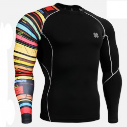 """Black Rings"" - FIXGEAR Second Skin Technical Compression Shirt."