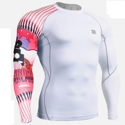 """""""Uni Invasores del Espacio""""  - Camiseta Técnica de Compresión Segunda Piel FIXGEAR."""