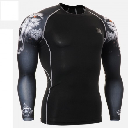 """""""Duo Canis Lupus"""" - FIXGEAR Second Skin Technical Compression Shirt ."""