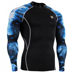 """Blue Aura"" - FIXGEAR Second Skin Technical Compression Shirt ."