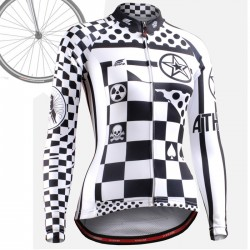 """CSW601"" WOMAN - FIXGEAR Long Sleeve Cycling Jersey."