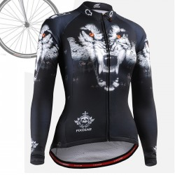 """Wolf Team"" WOMAN - FIXGEAR Long Sleeve Cycling Jersey."