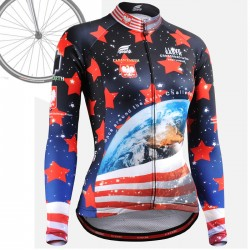 """CSW1001"" WOMAN - FIXGEAR Long Sleeve Cycling Jersey."