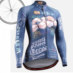 """CSW1501"" WOMAN - FIXGEAR Long Sleeve Cycling Jersey."