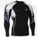 """Calaveras Fundidas"" - Camiseta Técnica de Compresión Segunda Piel FIXGEAR."