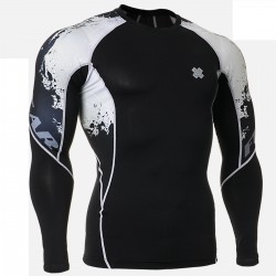 """Melted Skulls"" - FIXGEAR Second Skin Technical Compression Shirt ."