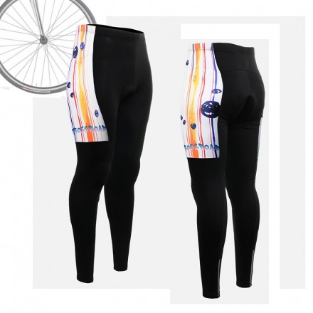 """Ribbons & Flames"" WOMAN - FIXGEAR Long Cycling Pants."