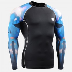 """Cold Magma"" - FIXGEAR Second Skin Technical Compression Shirt ."