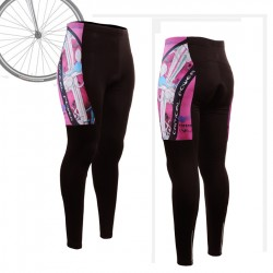 """THE SKELETON"" PINK - WOMAN - FIXGEAR Long Cycling Pants."