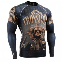 """Crossroad Skull"" Full - FIXGEAR Second Skin Technical Compression Shirt ."