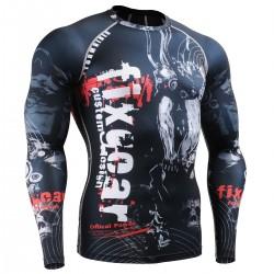 """""""Calavera en el Tiempo"""" FULL - Camiseta Correr/Entrenar/MMA Segunda Piel FIXGEAR."""