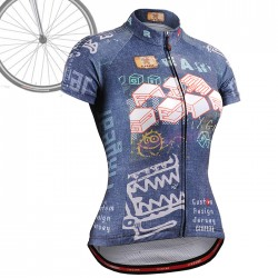 """CSW1502"" WOMAN - FIXGEAR Long Sleeve Cycling Jersey."