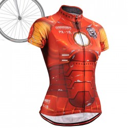 """IRON FIX"" WOMAN - FIXGEAR Short Sleeve Cycling Jersey."