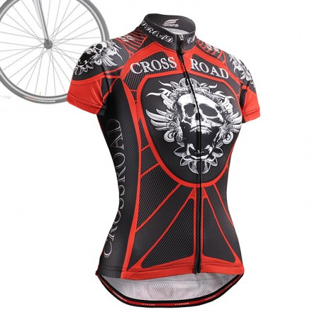 """""""Red Armor"""" WOMAN - FIXGEAR Short Sleeve Cycling Jersey."""