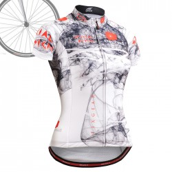 """CSW2102"" WOMAN - FIXGEAR Short Sleeve Cycling Jersey."
