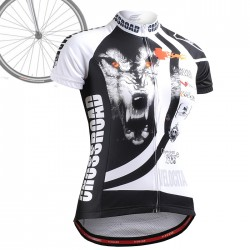 """Wolf Cross"" WOMAN - FIXGEAR Short Sleeve Cycling Jersey."