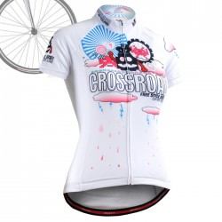 """""""Space Invaders"""" WOMAN - FIXGEAR Short Sleeve Cycling Jersey."""