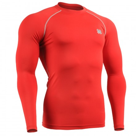 """""""RED FIX"""" Long Sleeve - FIXGEAR Second Skin Technical Compression Shirt ."""
