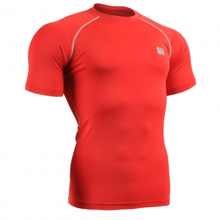 """RED FIX"" Short Sleeve - FIXGEAR Second Skin Technical Compression Shirt ."