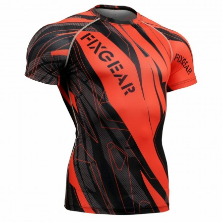 """Splinters"" FULL Short Sleeve - FIXGEAR Second Skin Technical Compression Shirt ."