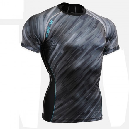 """""""Dark Traces"""" FULL Short Sleeves - FIXGEAR Second Skin Technical Compression Shirt ."""