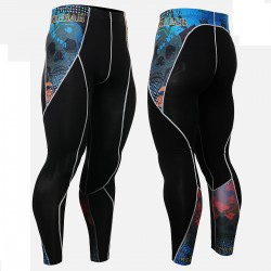 """Primary Skulls"" - FIXGEAR Second Skin Technical Compression Tights ."