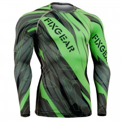 """Splinters"" FULL Green - FIXGEAR Second Skin Technical Compression Shirt ."