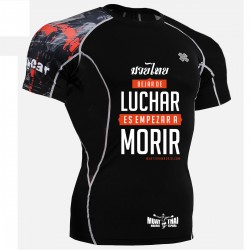 "Muay Thai Madrid Rashguard - Short Sleeve ""Time Skull"""