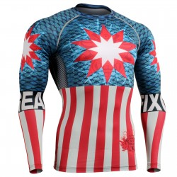 """Americanada""  FULL - FIXGEAR Second Skin Technical Compression Shirt ."