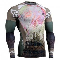 """Splash"" FULL - FIXGEAR Second Skin Technical Compression Shirt ."