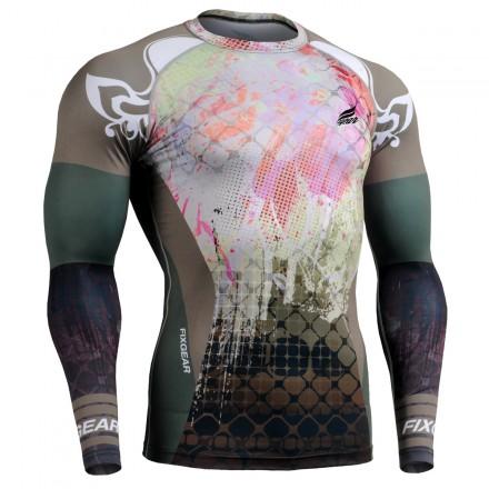 """Splash"" FULL - FIXGEAR Second Skin Technical Compression Shirt ."