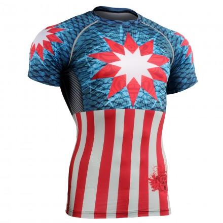 """Americanada""  FULL - FIXGEAR Short Sleeve Technical Compression Shirt ."
