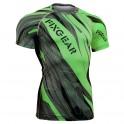 """Splinters"" FULL Green - FIXGEAR Short Sleeve Technical Compression Shirt ."