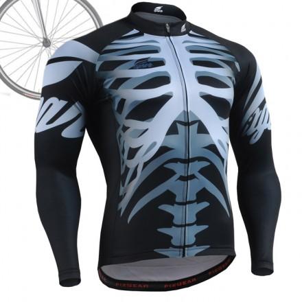 """BONES"" - FIXGEAR Long Sleeve Cycling Jersey."