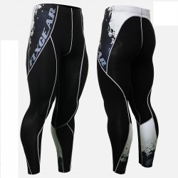 """Melted Skulls"" - FIXGEAR Second Skin Technical Compression Tights ."