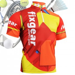 """""""Spain Passion"""" - FIXGEAR Short Sleeve 1/4 Zip-up Casual Polo"""