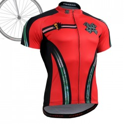 """DEAD RED"" - FIXGEAR Short Sleeve Cycling Jersey."