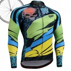 """Laughing Buddha"" - FIXGEAR Long Sleeve Cycling Jersey."