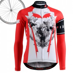 """INK FLOW"" WOMAN - FIXGEAR Long Sleeve Cycling Jersey."