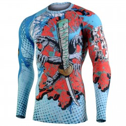 """KILL EM ALL"" - FIXGEAR Second Skin Technical Compression Shirt. SPECIAL MMA EDITION"
