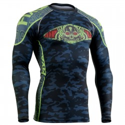 """BLUE CAMO"" - FIXGEAR Second Skin Technical Compression Shirt."