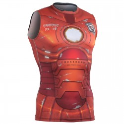 """Iron Fix"" Sleeveless - FIXGEAR Second Skin Technical Compression Shirt ."