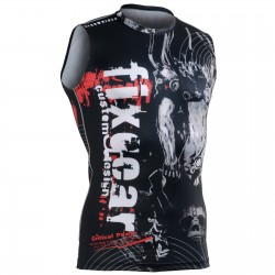 """Time Skull"" Sleeveless - FIXGEAR Second Skin Technical Compression Shirt ."