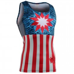 """Americanada"" Tank Top - FIXGEAR Second Skin Technical Compression Shirt ."