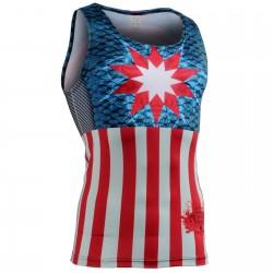 """Americanada"" Tank Top - FIXGEAR Second Skin Technical Compression Shirt ."