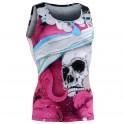 """""""The Skeleton"""" Rosa Tirantes - Camiseta Técnica de Compresión Segunda Piel FIXGEAR."""
