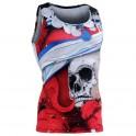 """""""The Skeleton"""" Rojo Tirantes - Camiseta Técnica de Compresión Segunda Piel FIXGEAR."""