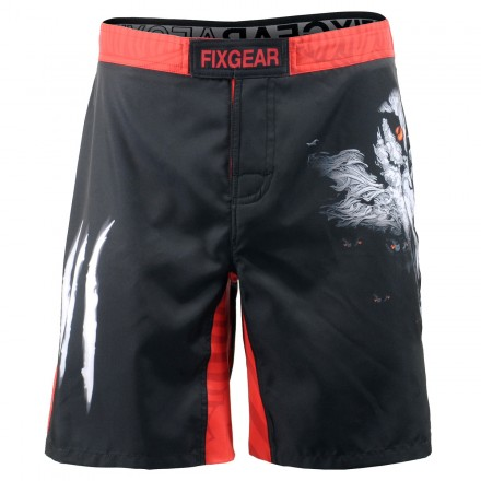"""Wolf Team"" - Bermuda/Fight Short/Boxing/Board Short FIXGEAR."