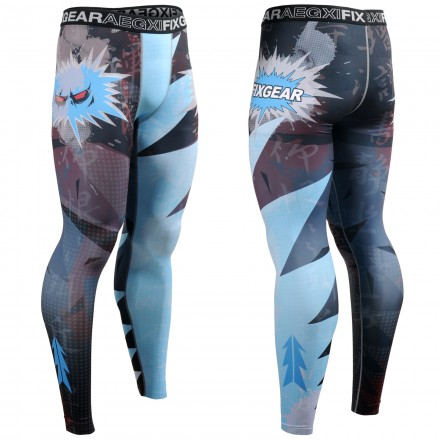 """EVIL EYE"" - FIXGEAR Second Skin Technical Compression Tights ."