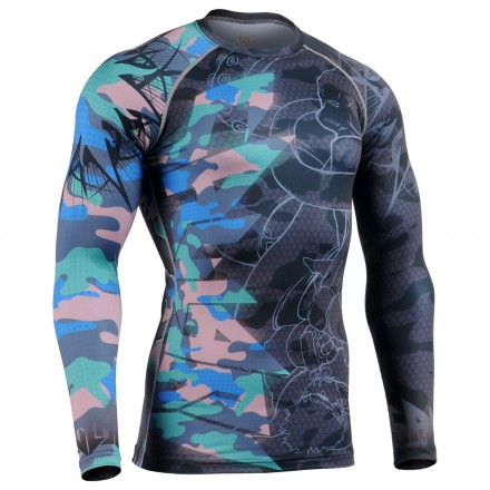 """GRAPPLING? WTF!"" color - FIXGEAR Second Skin Technical Compression Shirt."